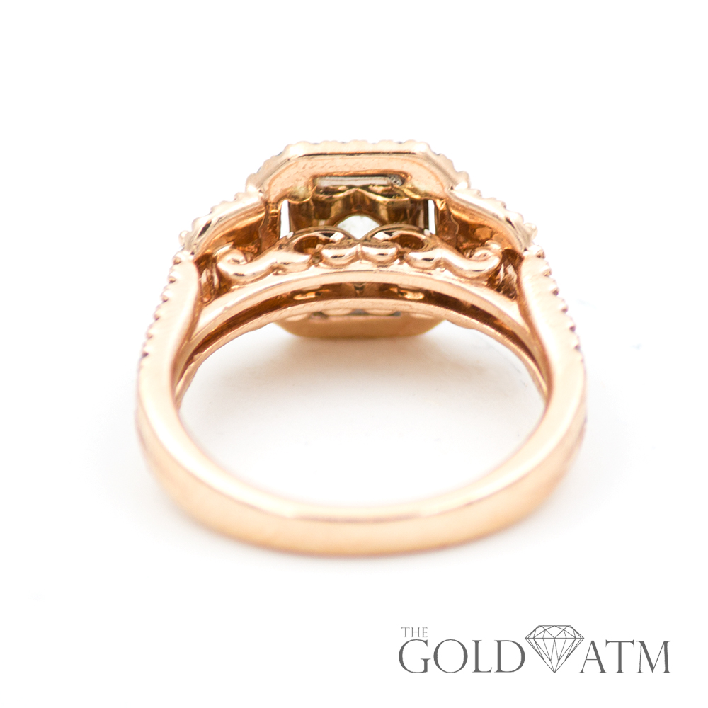 Wedding Rings Kay Jewelry.14k Rose Gold Engagement Ring With Emerald Cut Diamonds From Kay Jewelers 1 65 Cttw