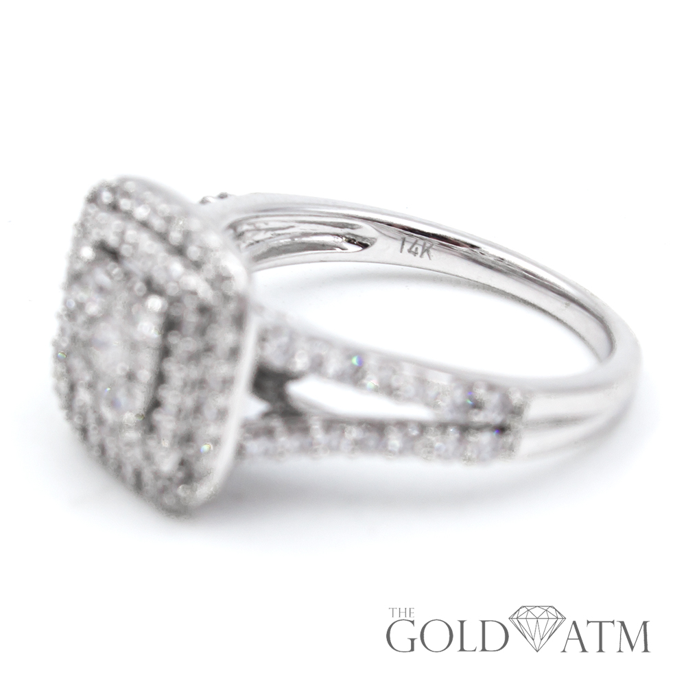 14k White Gold Engagement Ring From Kay Jewelers 1 5 Cttw The