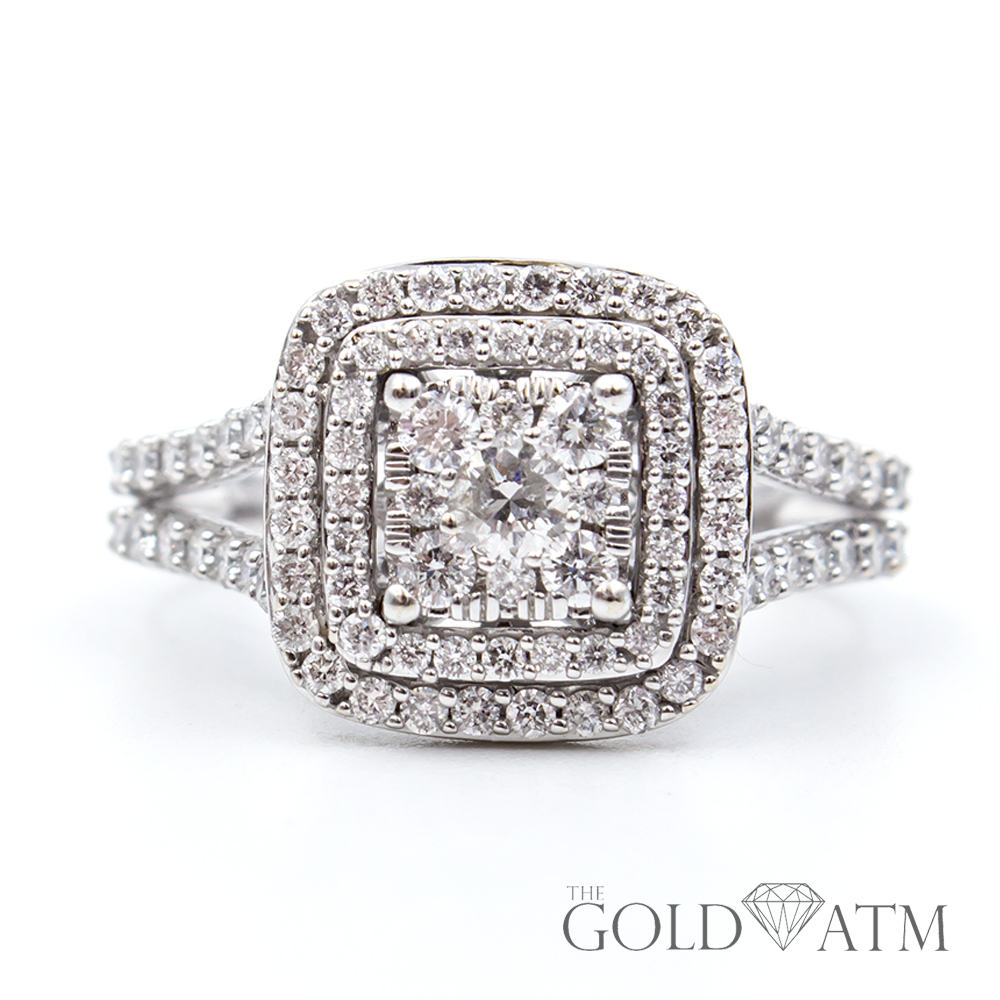 14K White Gold Engagement Ring from Kay Jewelers (1.5 cttw) - The ...