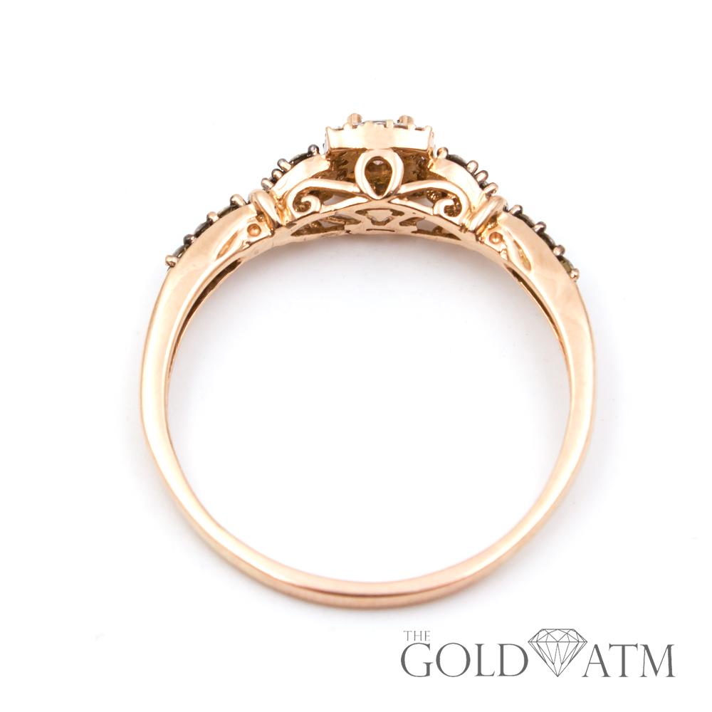 Wedding Rings Kay Jewelry.14k Rose Gold Round Chocolate Diamond Ring Large Ring Size 13