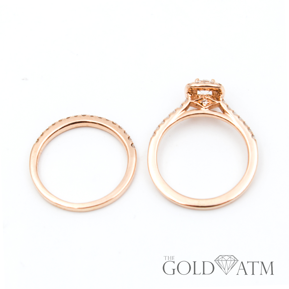 Engagement Rings Sale Rose Gold: 14K Rose Gold Diamond Engagement Ring Set From Jared