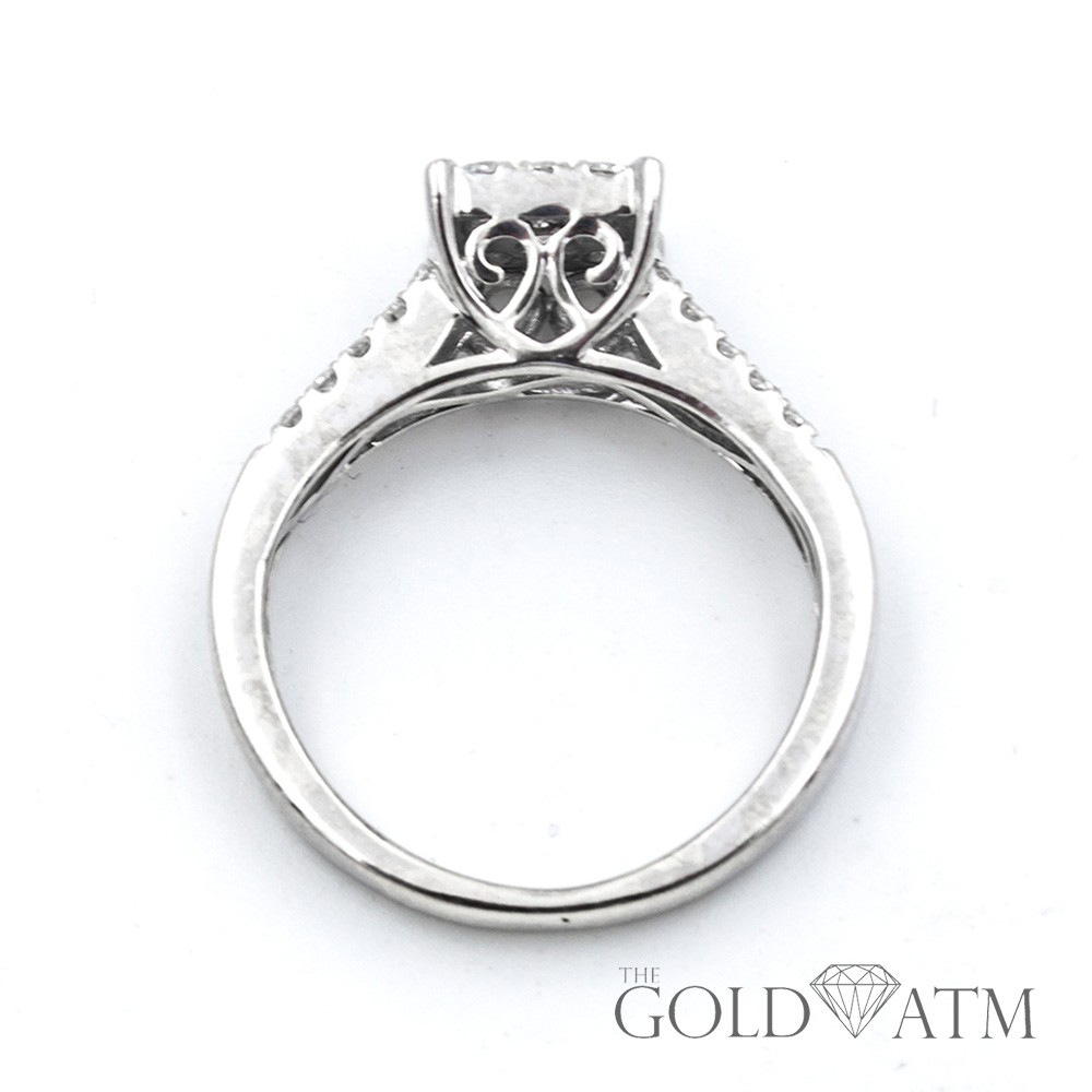 White Gold Wedding Bands Zales: 14K White Gold Diamond Engagement Ring From Zales