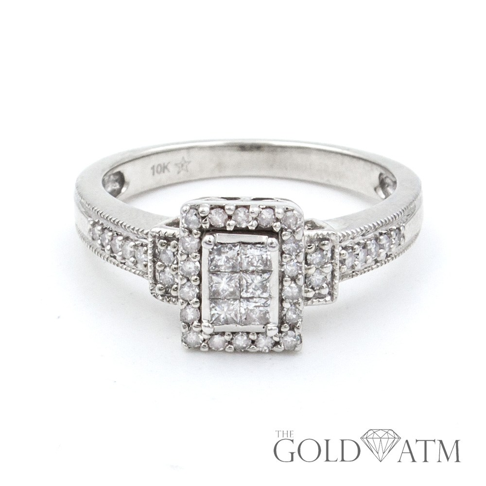 10k white gold engagement ring the gold atm. Black Bedroom Furniture Sets. Home Design Ideas