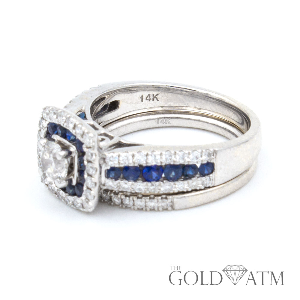 graduated ring engagement ca and gold white in your diamond setmain build tw own bands sapphire ct