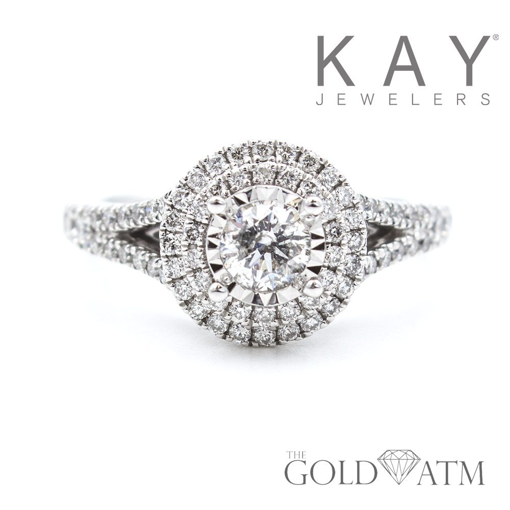 14K White Gold .33ct Diamond Engagement Ring from Kay Jewelers ...