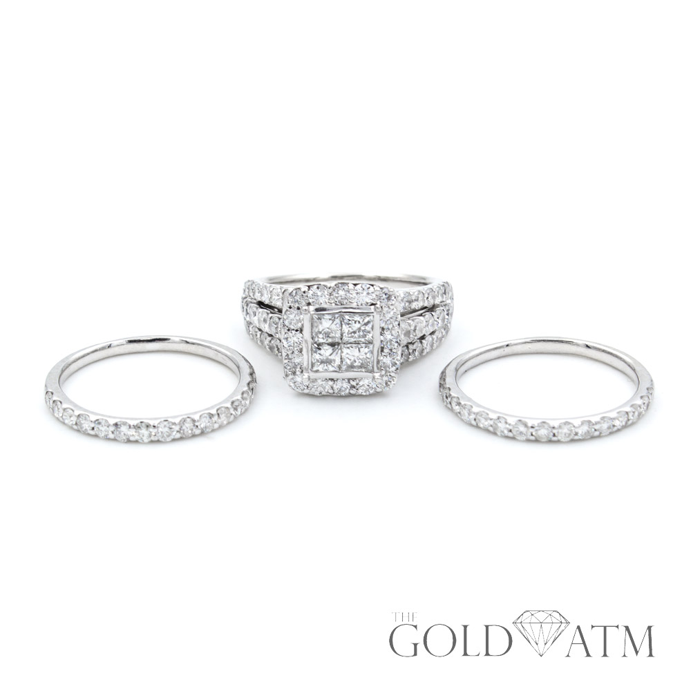 84ff9f0f7846b 14K White Gold .19ct Diamond Engagement Ring Set from Kay Jewelers