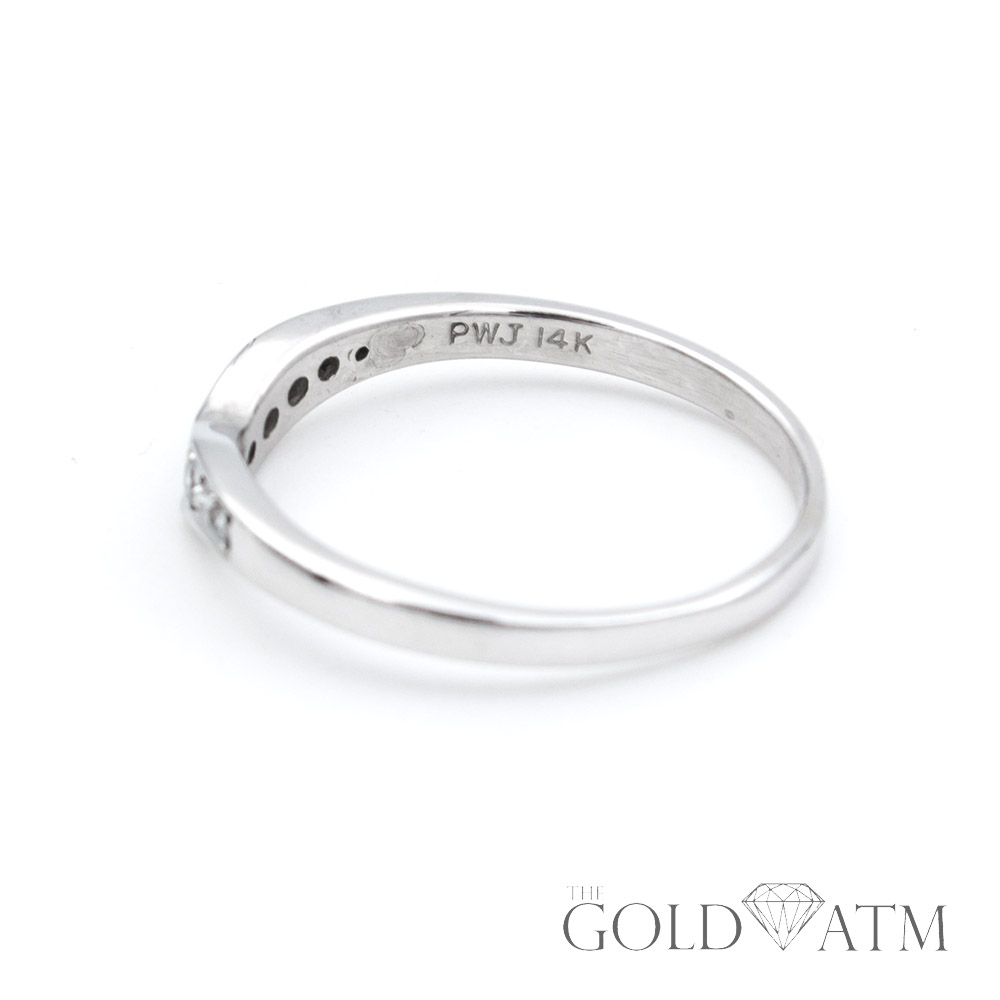 8af8b676c 14K White Gold Women's Diamond Wedding Band from Kay Jewelers (Size 9 1/2)