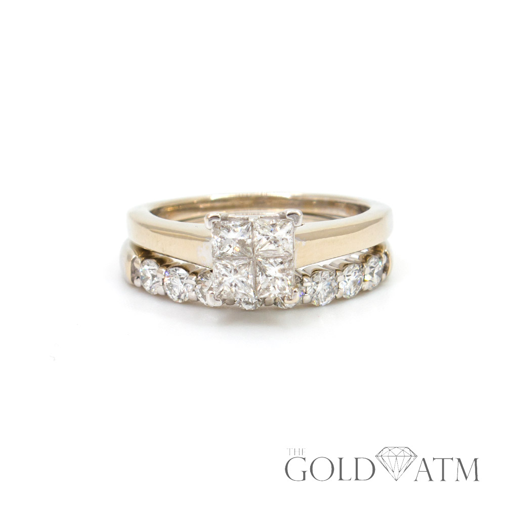 14k Yellow Gold Benchmark Engagement Ring Set The Gold Atm