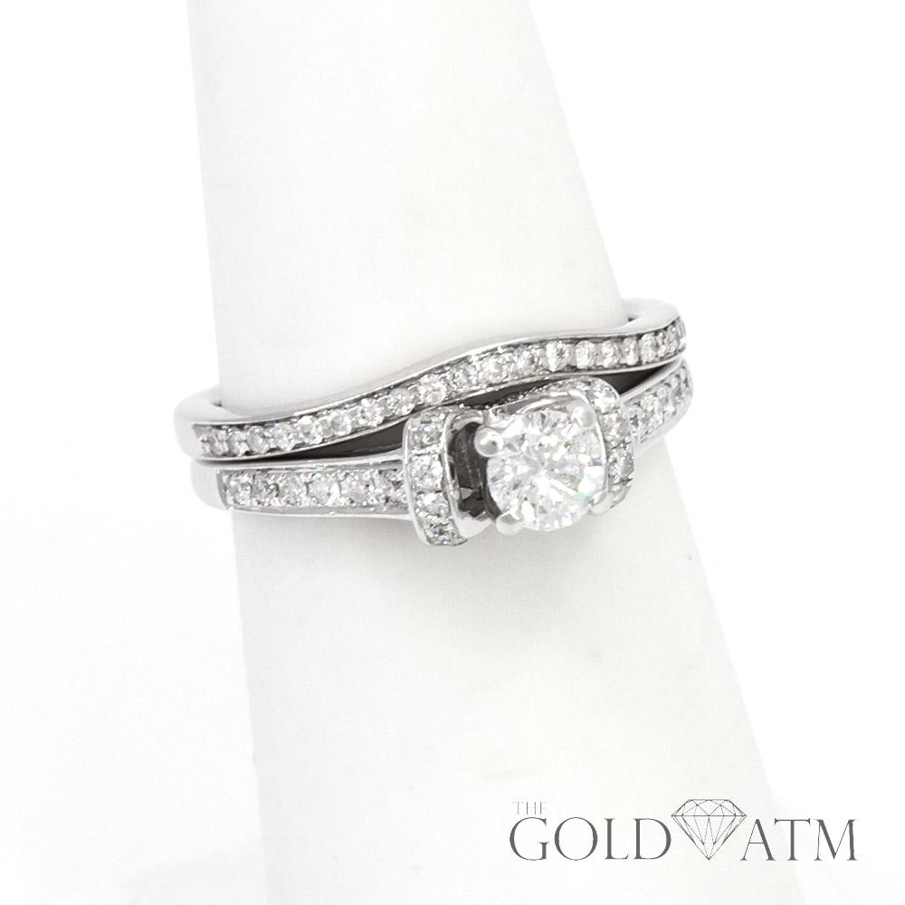 14k White Gold Diamond Engagement Ring Set The Gold Atm