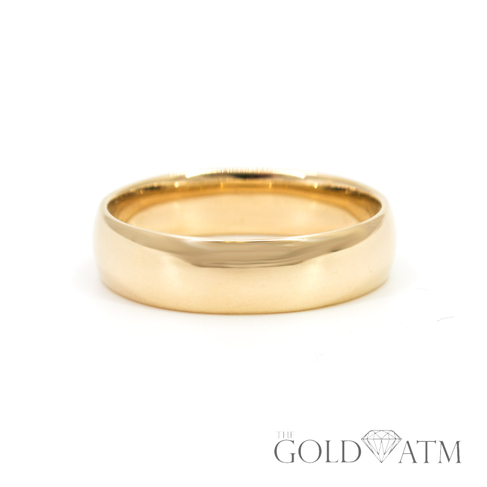 14k Yellow Gold Mens Wedding Band Size 11 12 The Gold Atm