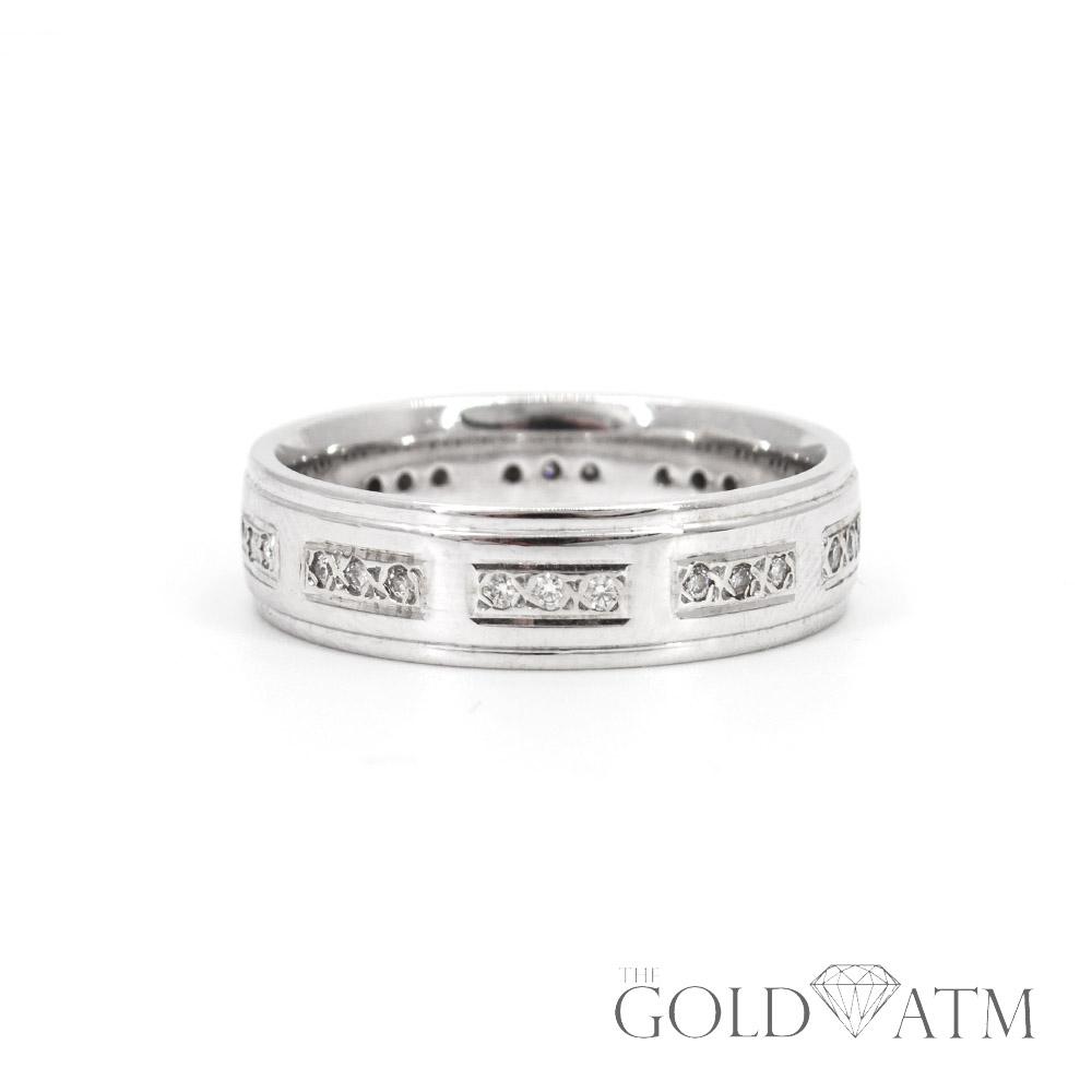 85d3e47d50 14K White Gold Diamond Men's Wedding Band (size 9 1/2) - The Gold ATM