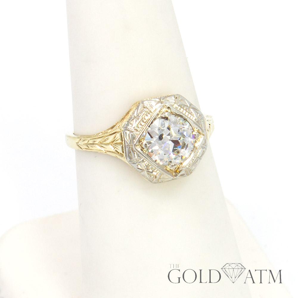 Sku 212 3 Gold Atm 10k Yellow Gold Vintage Diamond