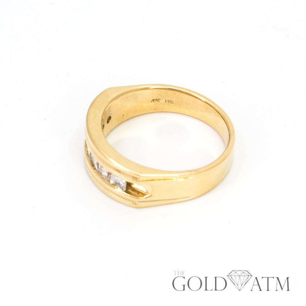14k Yellow Gold Women S Diamond Wedding Band 1 12 Cttw