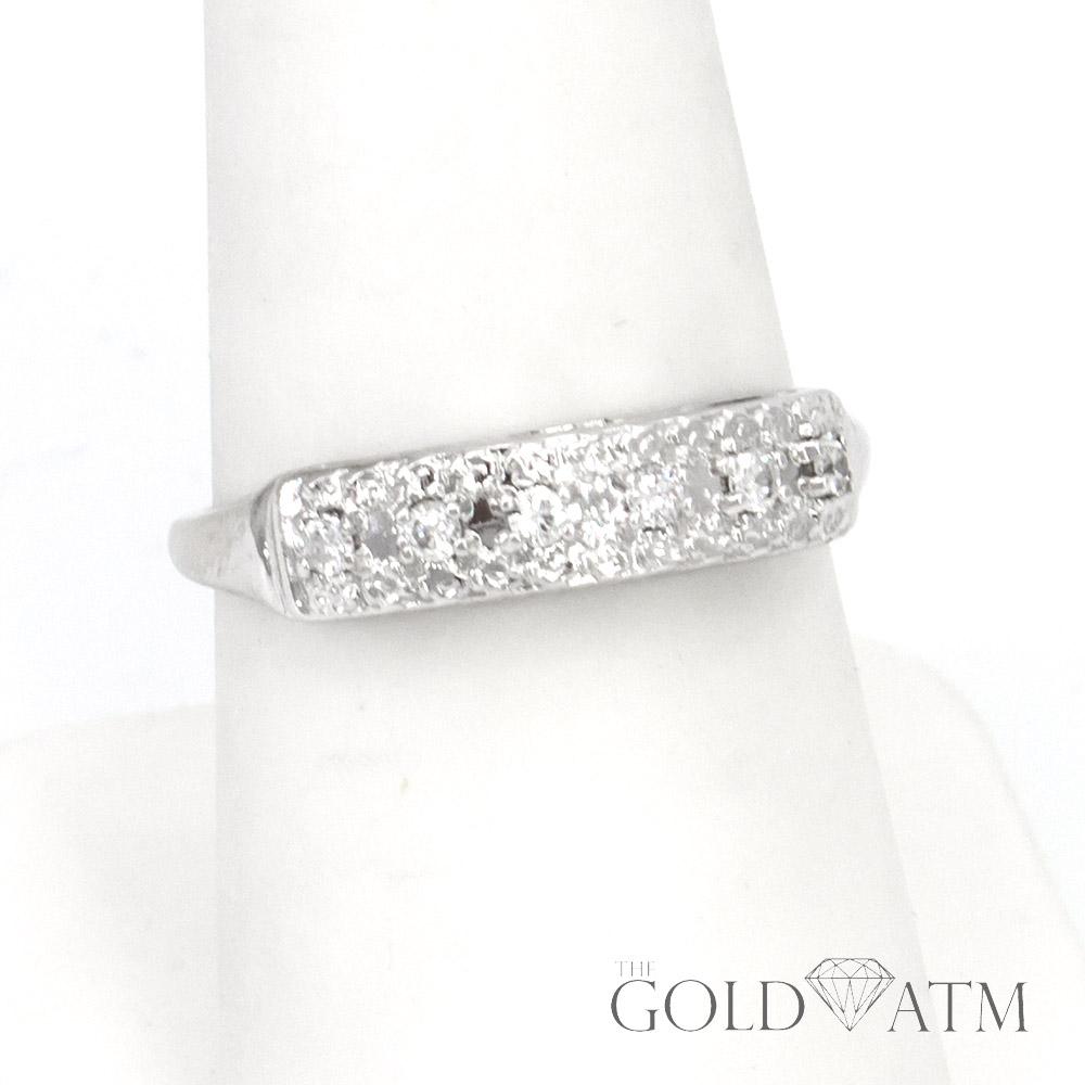 14K White Gold Diamond Vintage