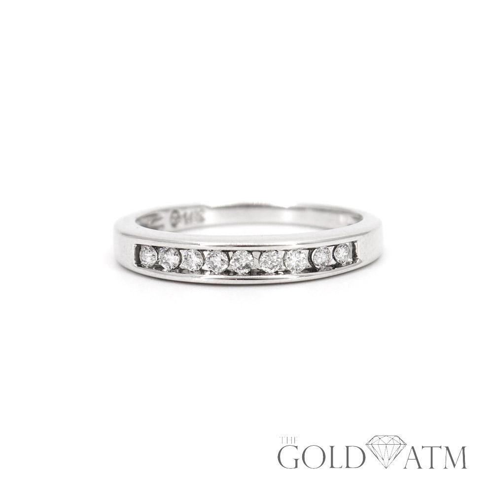 14k White Gold Women S Diamond Wedding Band Size 7 1 4