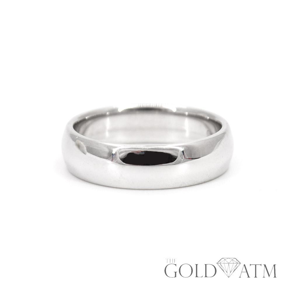 14k White Gold Wedding Band Size 6