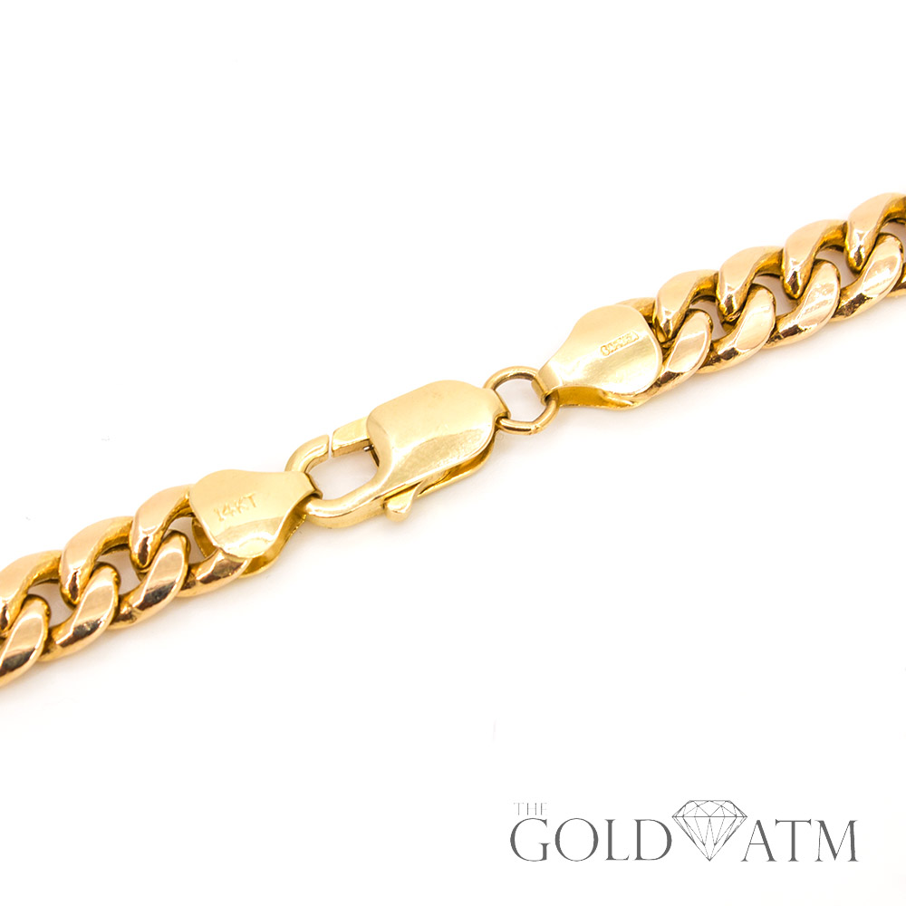 estate jewelry near me 14k yellow gold cuban link chain 20 inches the gold atm 5774