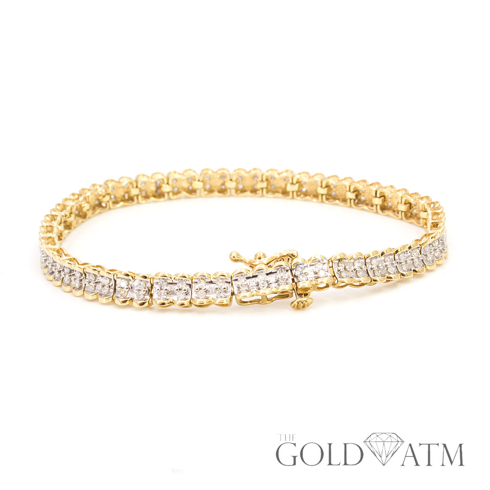 14k yellow gold diamond tennis bracelet size 6 the. Black Bedroom Furniture Sets. Home Design Ideas