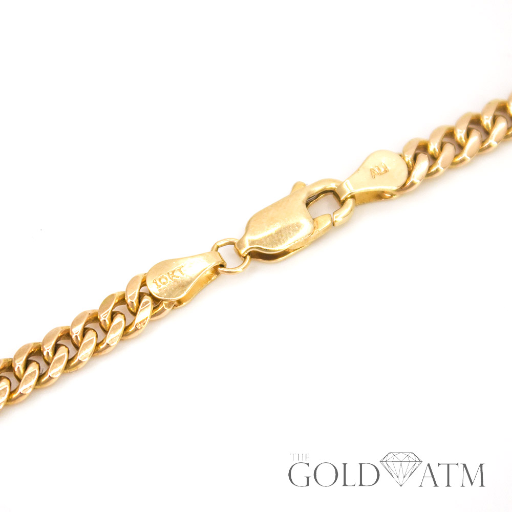 10k Gold Cuban Link Chain >> 10k Yellow Gold Cuban Link Chain 24 Inches The Gold Atm