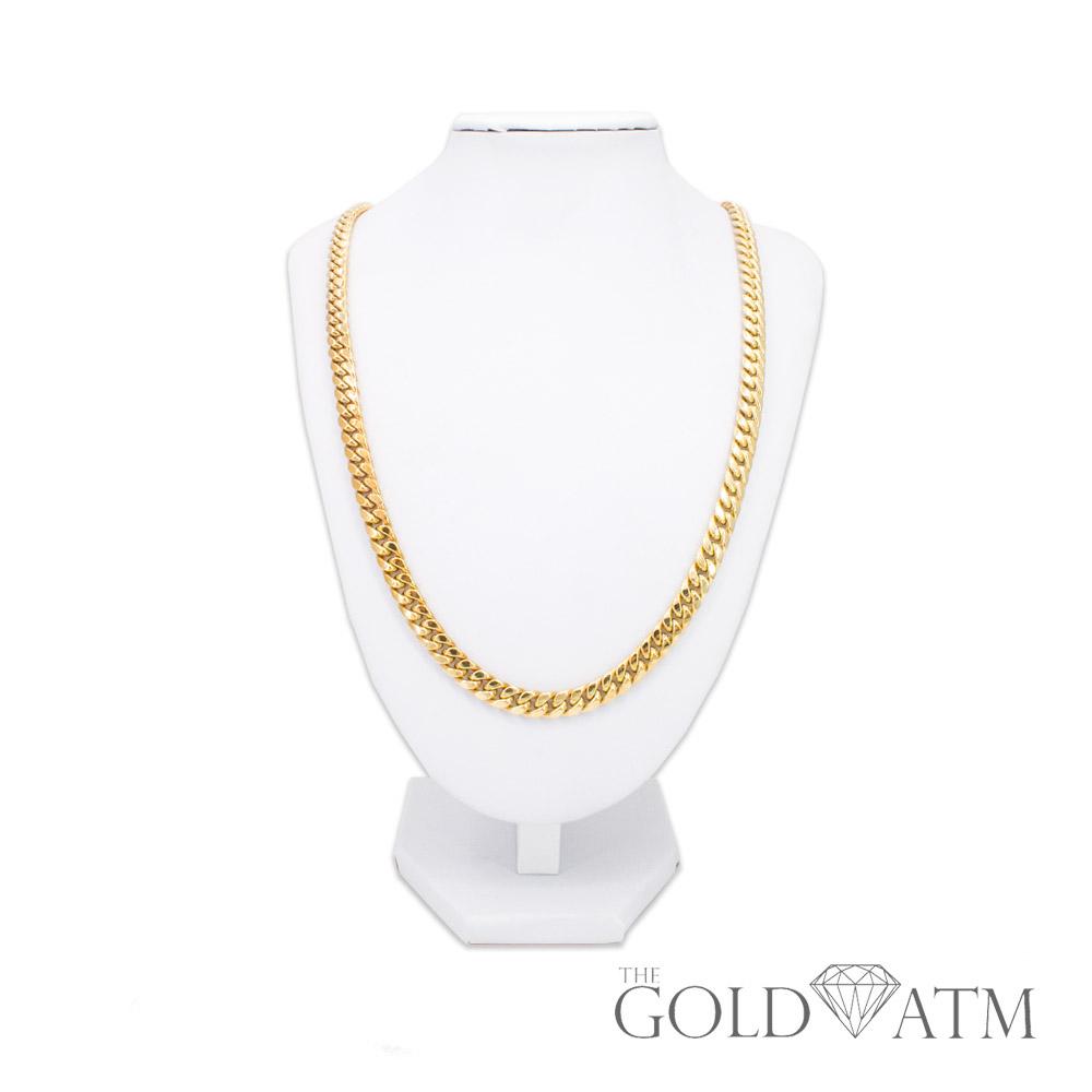 10k Gold Cuban Link Chain >> 10k Yellow Gold Cuban Link Chain 25 Inches
