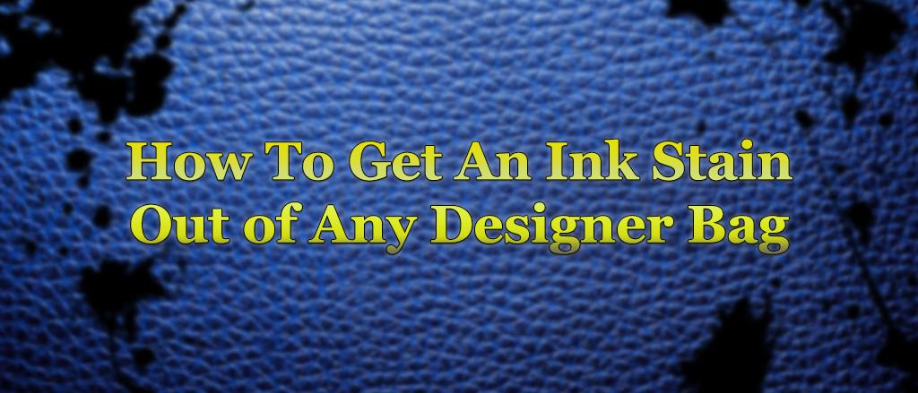 Gold ATM - Designer handbag with ink stains