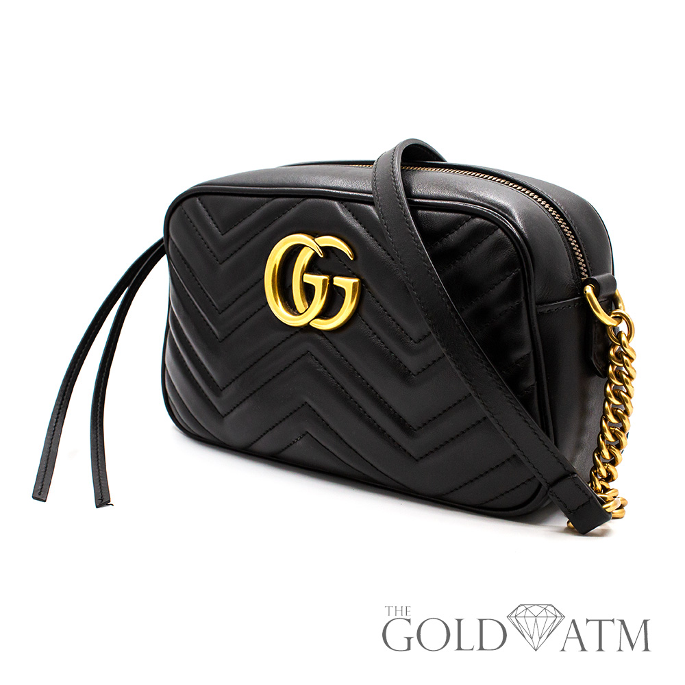 9c51b1d2cbba Gucci Marmont Small Matelasse' Shoulder Bag - The Gold ATM