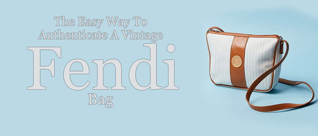 Fendi bag on blue background