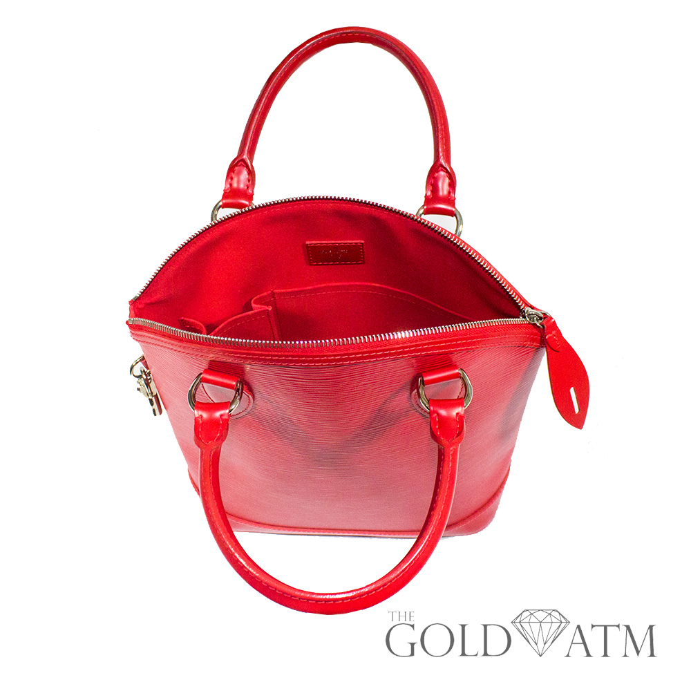 Louis Vuitton Epi Lockit Vertical Red The Gold Atm